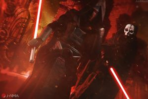 Darth Revan and Darth Nihilus by andrewhitc