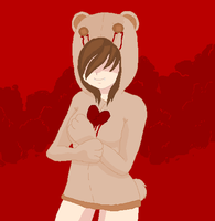 Bloody bear~ by Abnormalcircusgirl