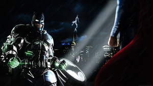 Batman v Superman Showdown - Poster/Wallpaper by LamboMan7