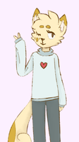 sweater kitty by Damocloid