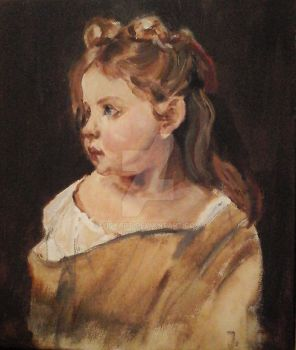 Master copy (William Adolphe) Portrait of a girl by Yiskart