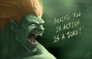 Blanka - Street Fighter II by CrescentDebris