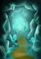 crystal cave by Rhaine-Horses