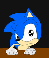 Sonic stares into your soul..... by Hyperthehedgefox101