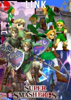 History of Link in Super Smash Bros by SuperSaiyanCrash