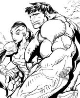Hulk and Caiera by dogsup