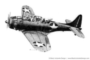 Pencil Illustration of Plane by MWorrell