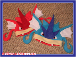 Gyarados Hats by Allyson-x