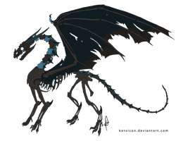 100 Themes - Zombie Dragon Adopt - Adopted by Feralx1