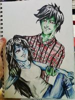 Marshall Lee And Marceline by Panicatthedisco7