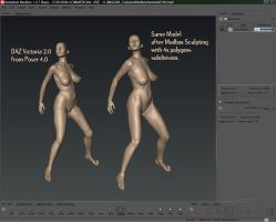 Poser to Mudbox by MkGrr