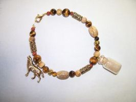 Timber Wolf Spirit Totem Charm Bracelet -SOLD- by DaybreaksDawn