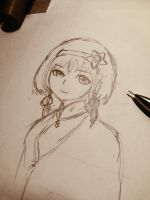 Chinese Girl doodle by CubizSparkle