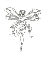 Winx Club Enchantix Layla coloring page by winxmagic237