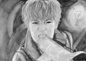 B.A.P ZELO megaphone rapping (Power) by helloThar-BOO