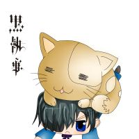 ciel and cat by crisny
