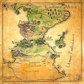 Map of Altera (The King of Kalass) by ElenNarome