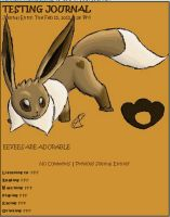 Eevee Journal Skin by AbyssinChaos