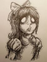 quick sketch: Little Sister by Wolf-Vexx1