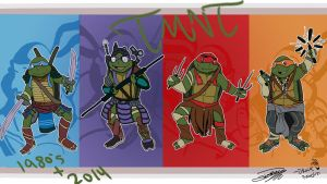 1980 Turtles Dressed as 2014 Turtles by drockNation