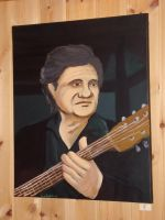 Johnny Cash painting by LARvonCL