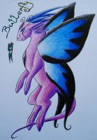 Butterfly Dragon by LonlyAntelope