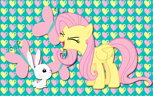 Fluttershy and Angel WP by AliceHumanSacrifice0