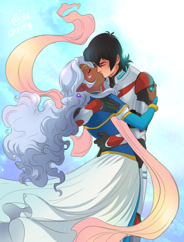 Voltron: Legedary defender - Allura and Keith by Autumn-Sacura