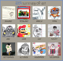 2009 Summary of Art by Bleu-Ninja