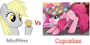 Muffins Vs Cupcakes by IzzyIzumi