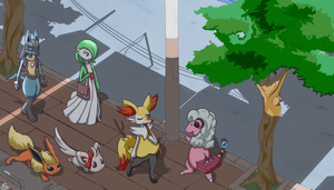 PokeSlice: Going to Work at 7AM by Reikomuffin
