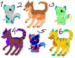 (Closed) Free Cat and Wolf Adoptables! by deviantADOPTABLE