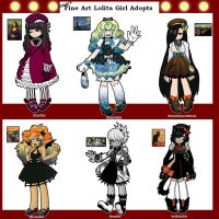 Famous Painting Fine Art Lolita Adoptables by SoloAzume