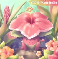 Alola Vileplume - Pokemon Sun and Moon by KagamiiX