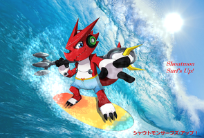 Shoutmon Surf's Up! by DarkTicklerMAD83