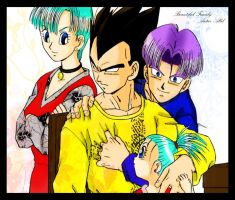 vegeta's family by AutarAllil