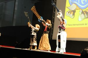 On Stage - Aqua, Terra and Ventus by Elena-Luna