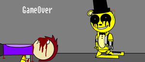 My FNAF2 Game Over Screen by SCPBronydude