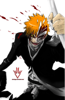 Ichigo Kurosaki Hollow - Bleach - Render by Obedragon
