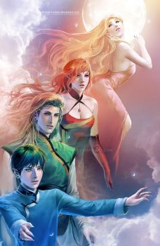 Spirits of Colours by sakimichan