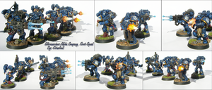 Ultramarines Alpha Company First Squad by jstncloud