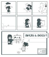 Birds and Bees page 1 by chyldea