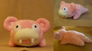 Slowpoke plush by Plush-Lore