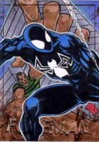 Symbiote Spidey PSC by Foreman by chris-foreman