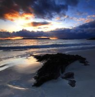 sunset over Eigg by DL-Photography