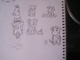 Animal sketches by dunkmeinariver