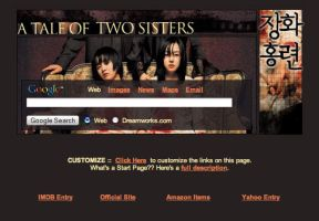 Tale of Two Sisters Startpage by AwesomeStart