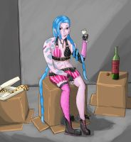 Downtime in Piltover by Aetoras