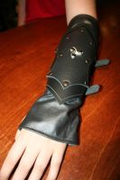 Leather glove and bracer 2 by Damiane