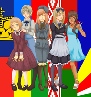 Some Hetalia Girls by akujin-joutei